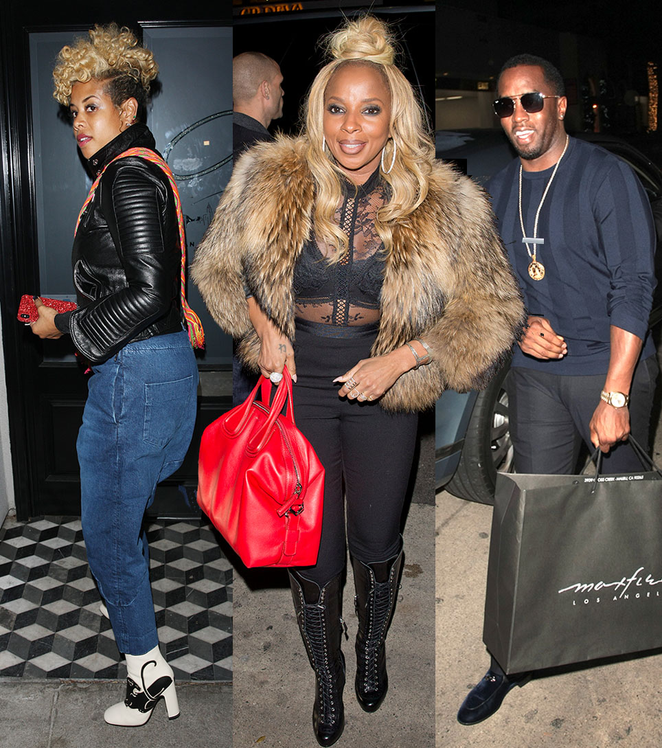 Kelis, Mary J Blige, Sean Combs at Mr Chow