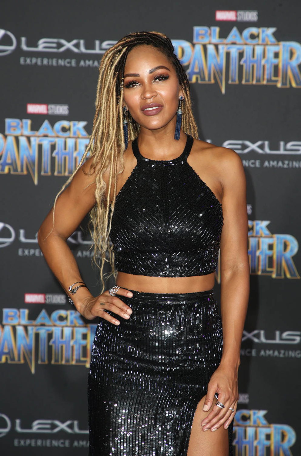 Meagan Good At Black Panther Film Premiere Sandra Rose