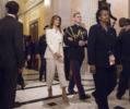 U.S. first lady Melania Trump departs The Capitol
