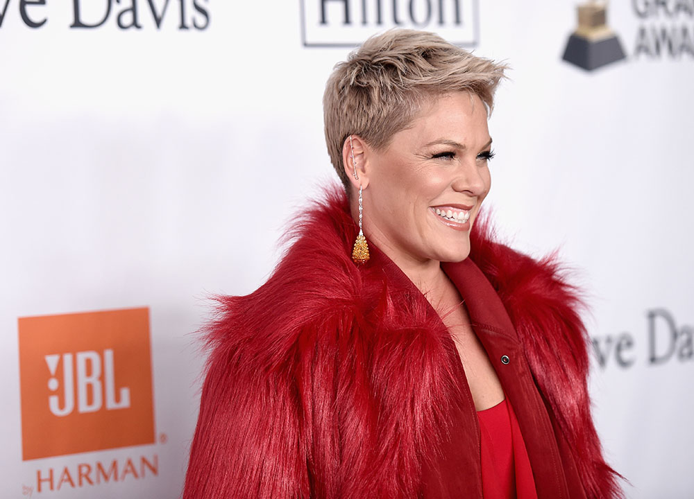 Jay Z New Hair Style 2018: Pink Attend Sean Combs Attend Pre-Grammy Gala Salute To