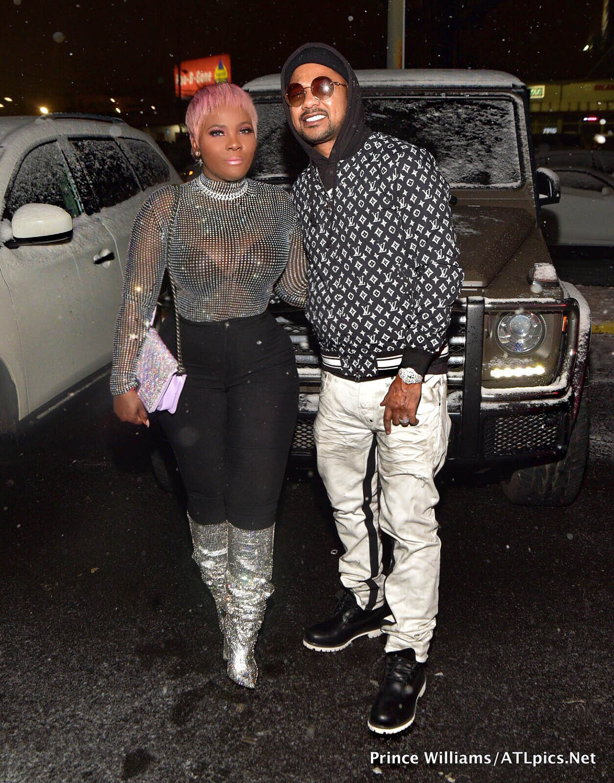 Premadonna and husband Buck at Big Bank Black 'No Cap' Party at Gold Room