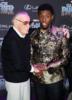Stan Lee, Chadwick Boseman at Film Premiere of Black Panther