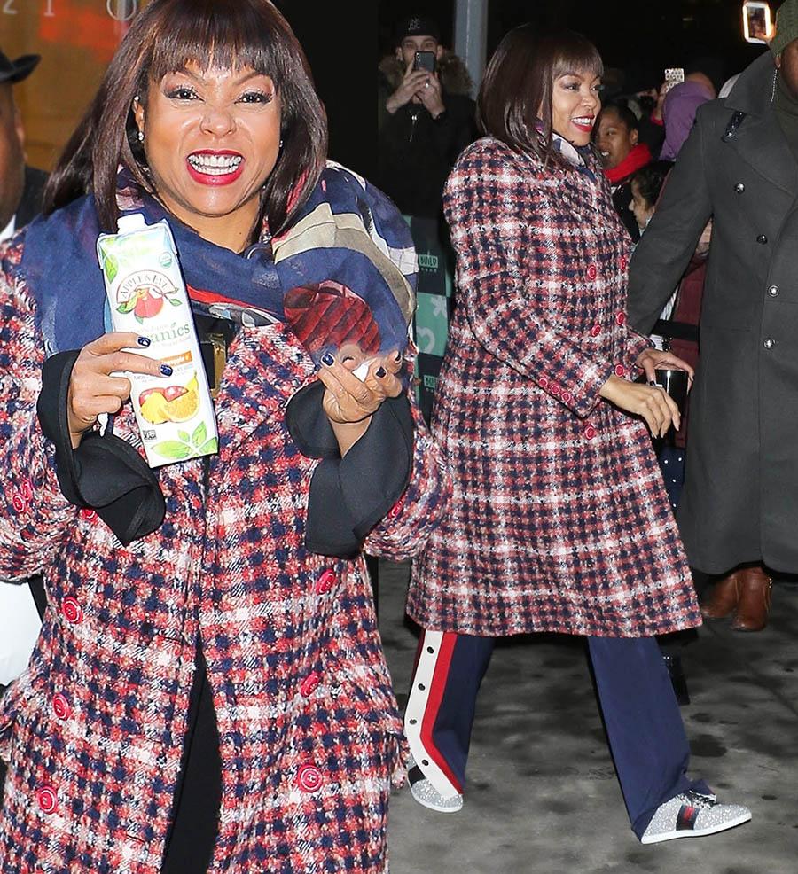 Taraji P Henson wearing Gucci in NYC