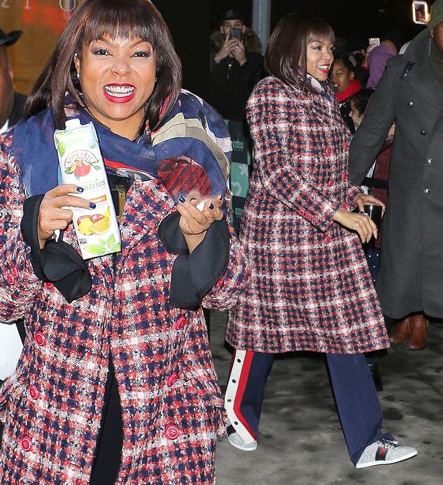 Taraji P Henson wearing Gucci in NYC
