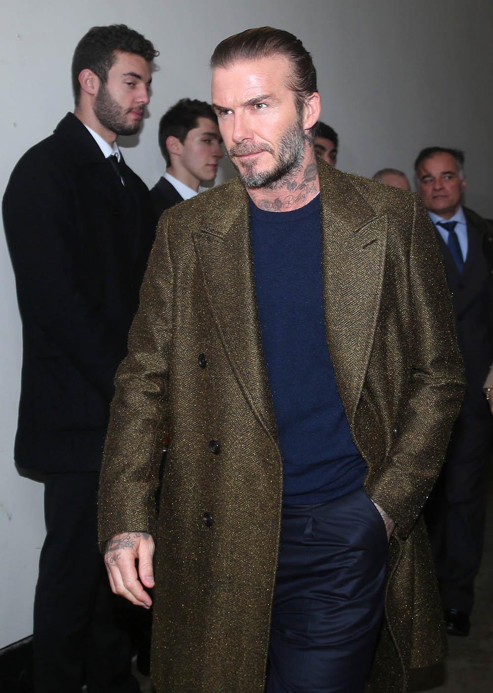 David Beckham Attends The Louis Vuitton Menswear Fall