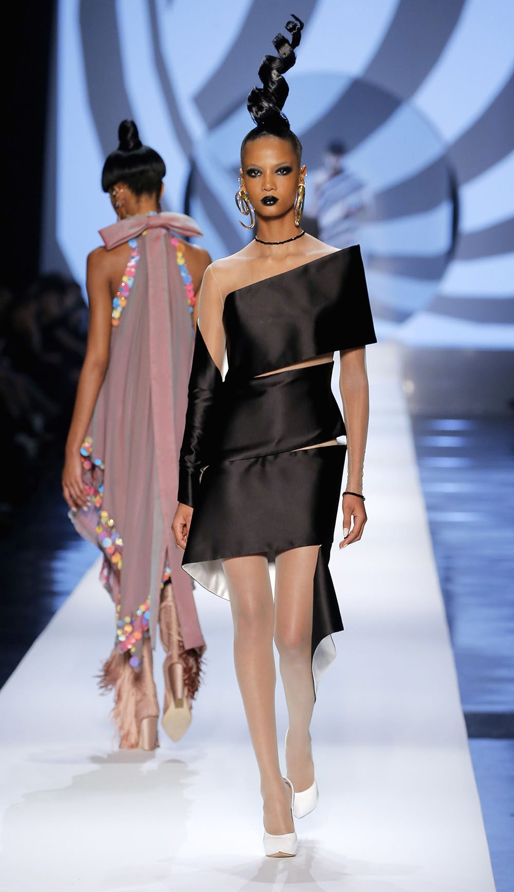 Coco Rocha and Her Daughter Walk Runway At Paris Couture Week 93