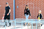 Robin Thicke reunites with ex Paula Patton for son's basketball game