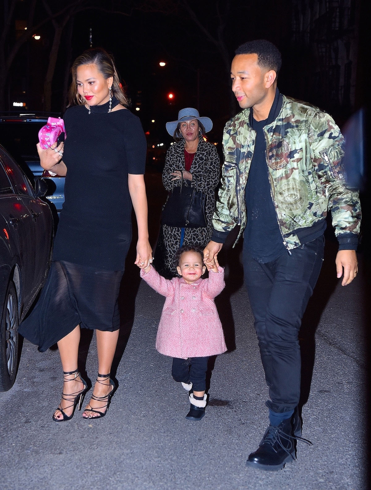 John Legend & Chrissy Teigen with their daughter Luna