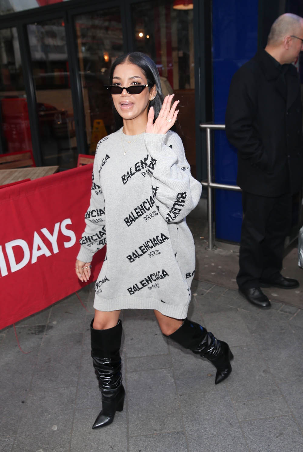 Jhene Aiko at the Global Radio Studios in London