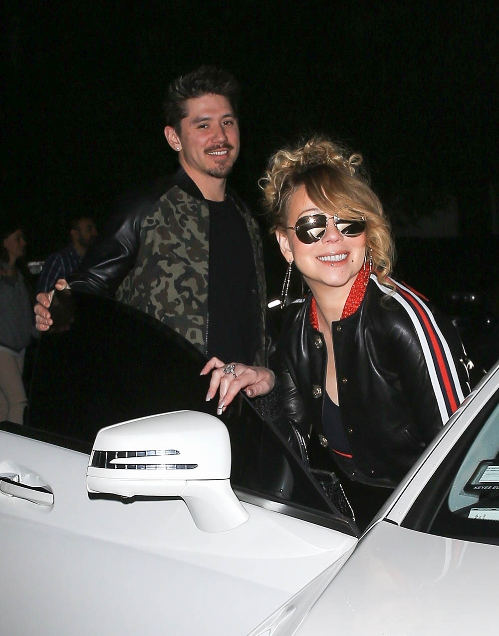 Mariah Carey and Bryan Tanaka with Moroccan Cannon
