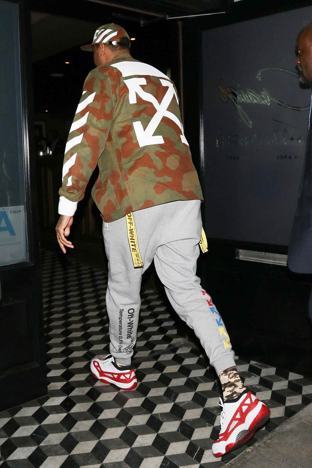 Celeb Style Carmelo Anthony Wearing Off White Camo Cargo