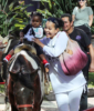 LisaRaye McCoy and granddaughter Bella Rae in Studio City