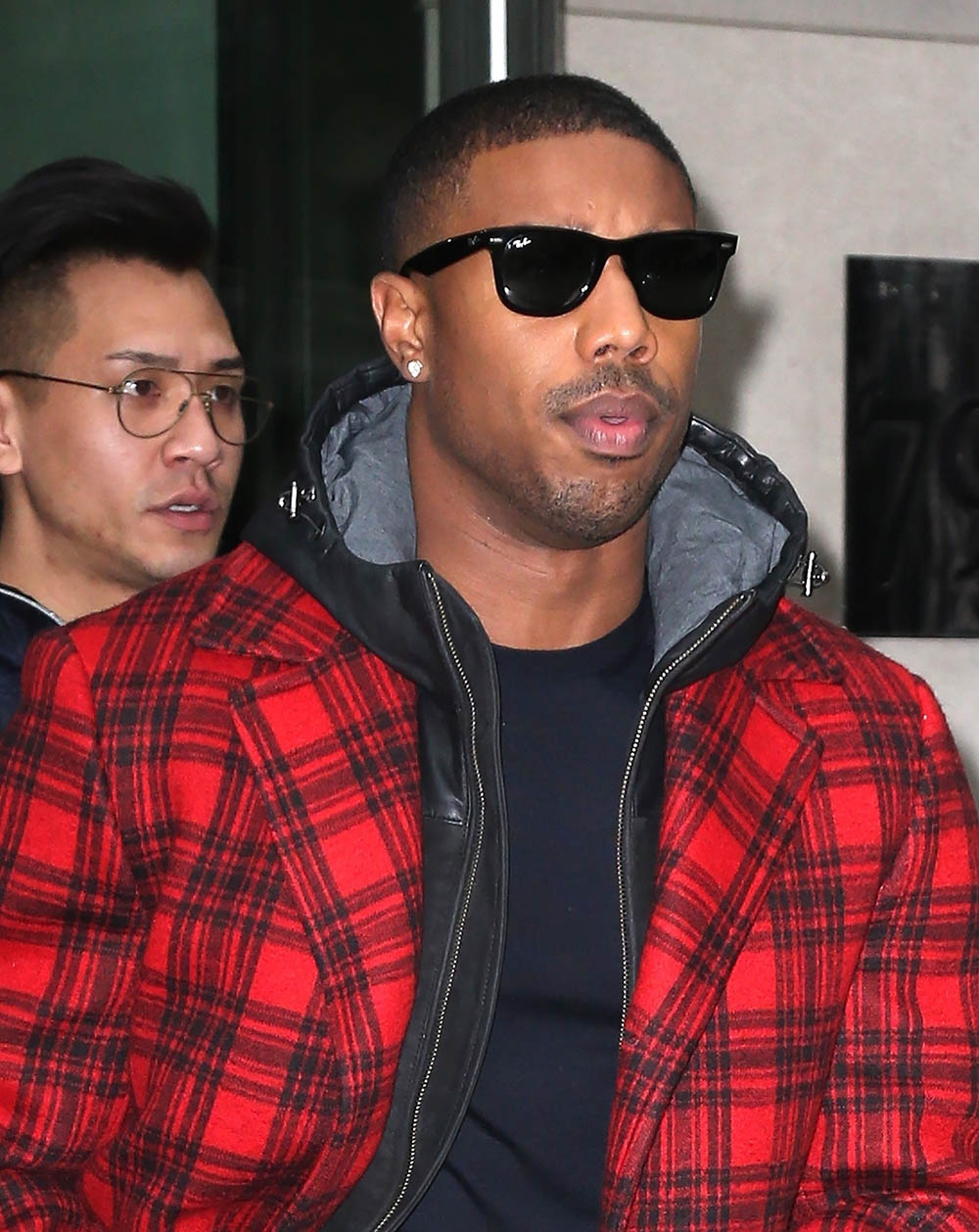 Michael B. Jordan seen in New York City promoting Black Panther | Sandra Rose