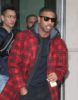 Michael B. Jordan seen in New York City promoting Black Panther