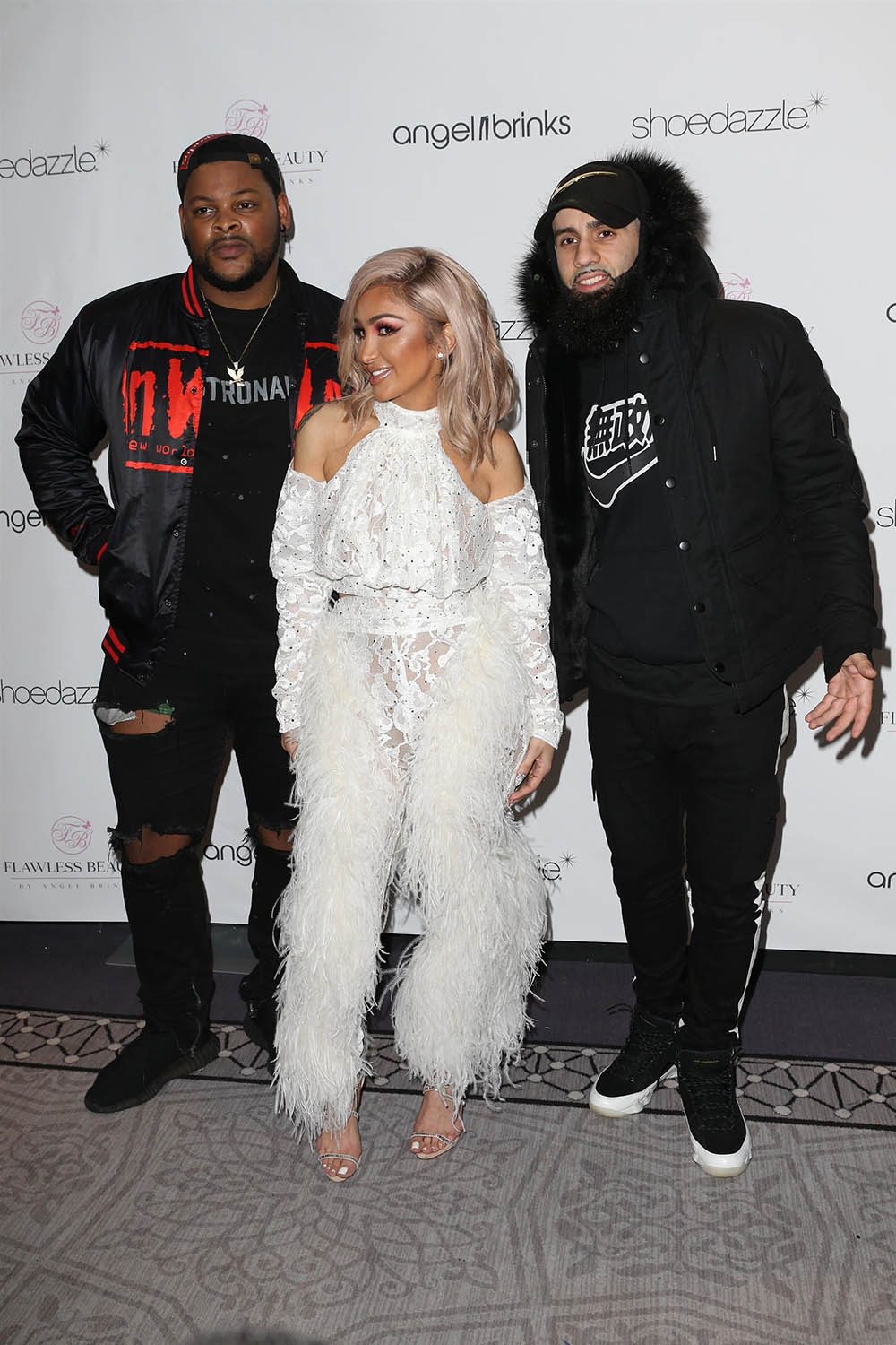 Nick and Pattiwhack with Angel Brinks