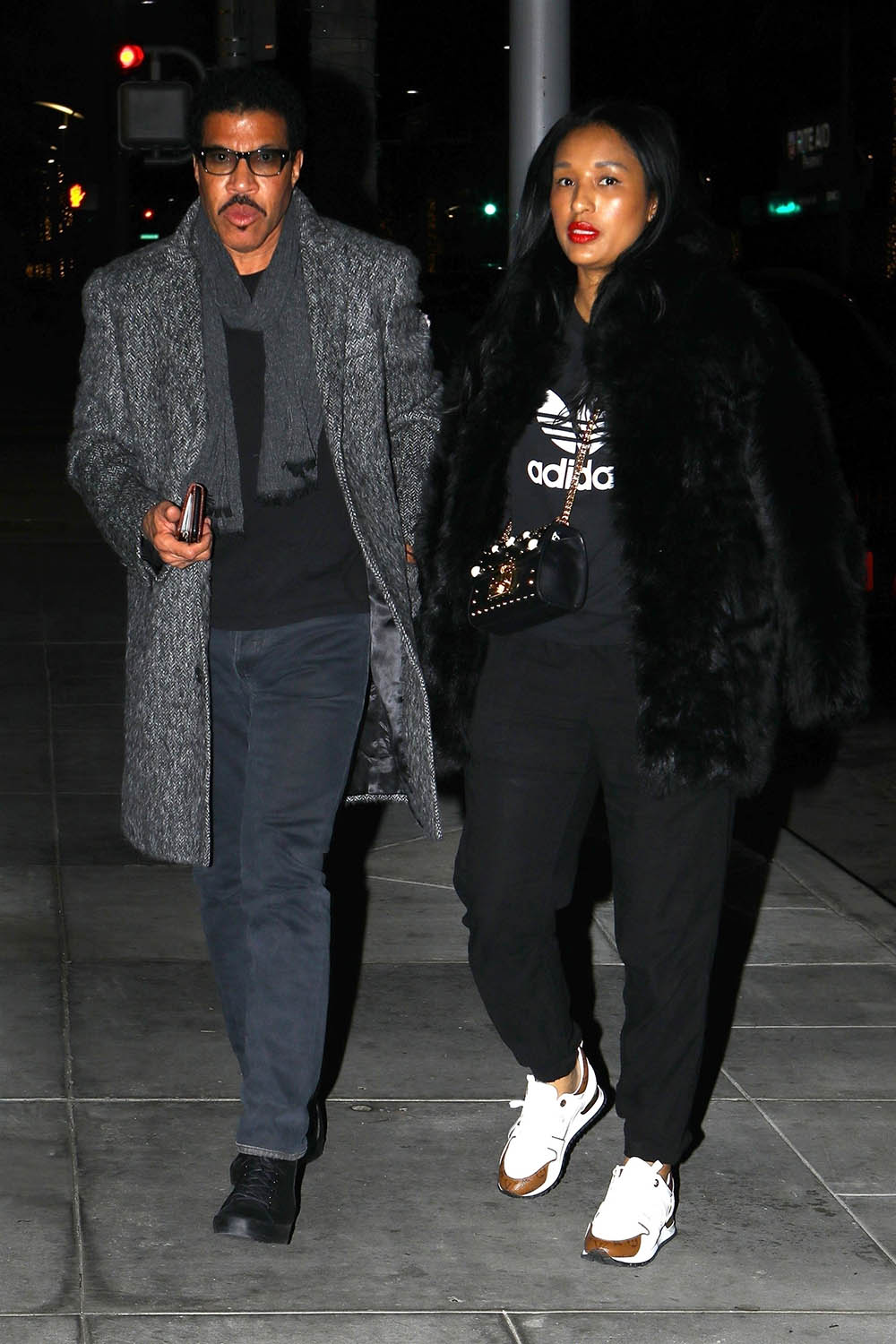 Lionel Richie And His Girlfriend In Beverly Hills Sandra
