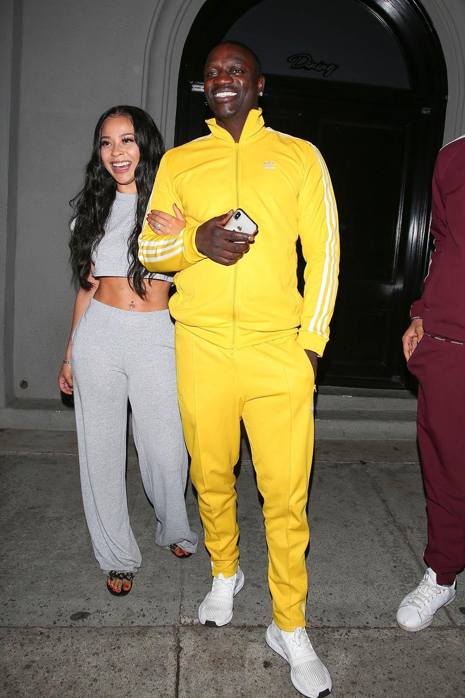 Akon And His Girlfriend Dine At Craig S Sandra Rose