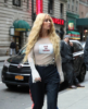 Iggy Azalea wearing a custom 'Out Of Order' shirt in New York City