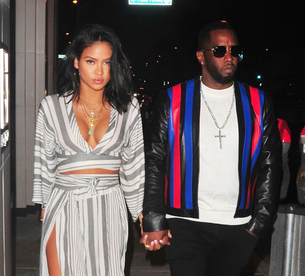 "Sean ""Puffy"" Combs and Cassie Ventura at Catch LA for Dinner"
