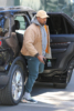 Kanye West arrives at Calabasas office