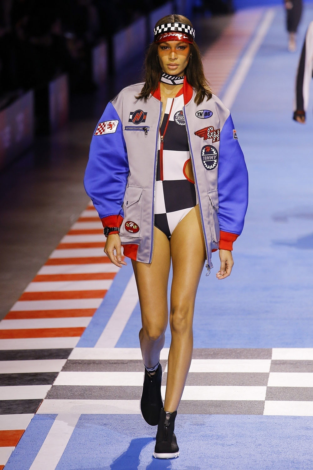 Joan Smalls at The Tommy Hilfiger fashion show in Milan