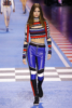 Luna Bijl at The Tommy Hilfiger fashion show in Milan