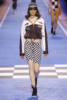 Fran Summers at The Tommy Hilfiger fashion show in Milan