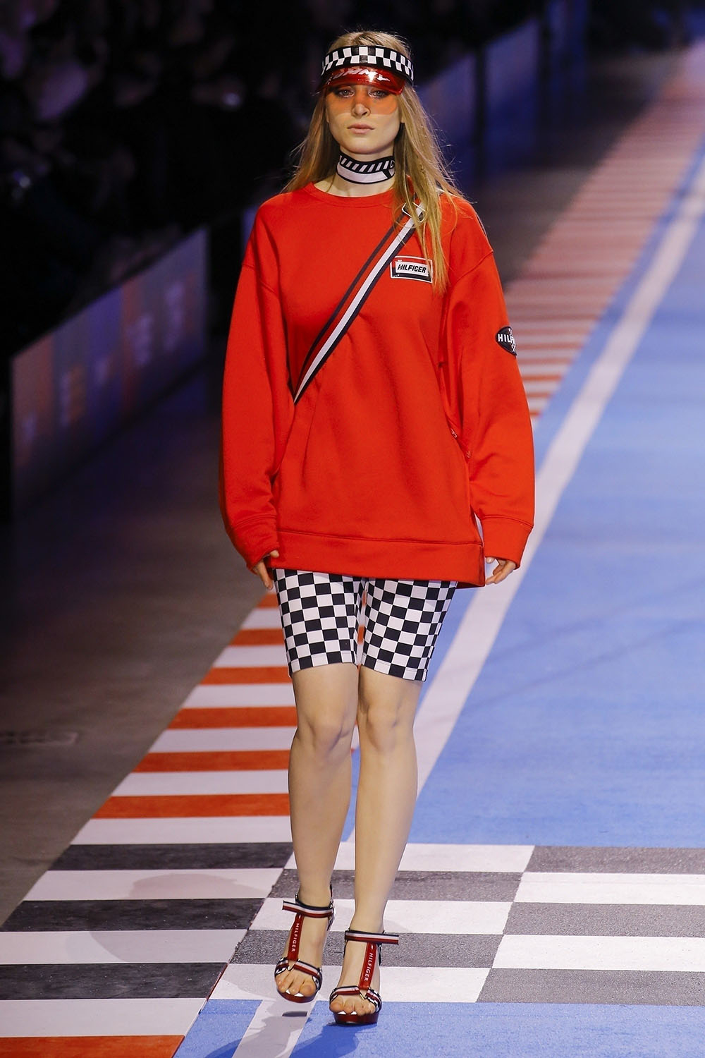 Audrey at The Tommy Hilfiger fashion show in Milan