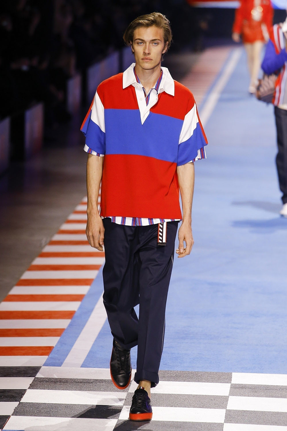 Lucky Blue Smith at The Tommy Hilfiger fashion show in Milan