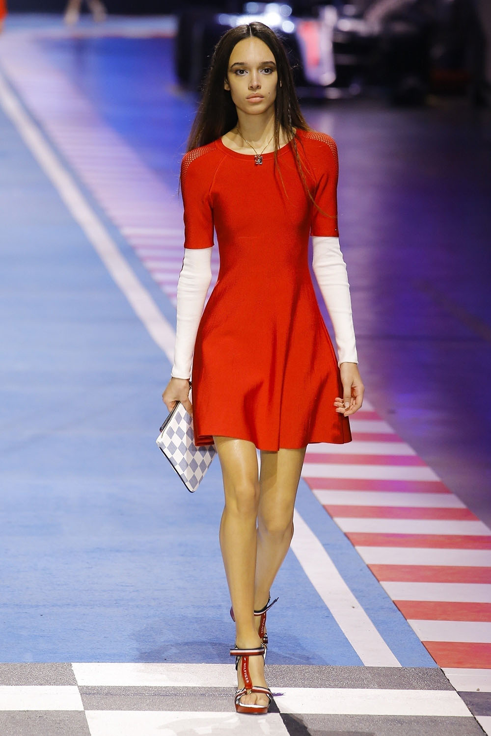 Nandy Nicodeme at The Tommy Hilfiger fashion show in Milan