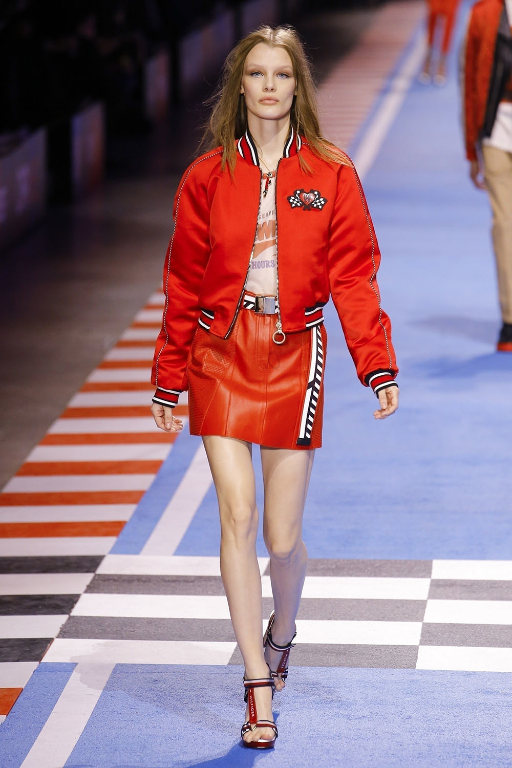Kris Grikaite at The Tommy Hilfiger fashion show in Milan