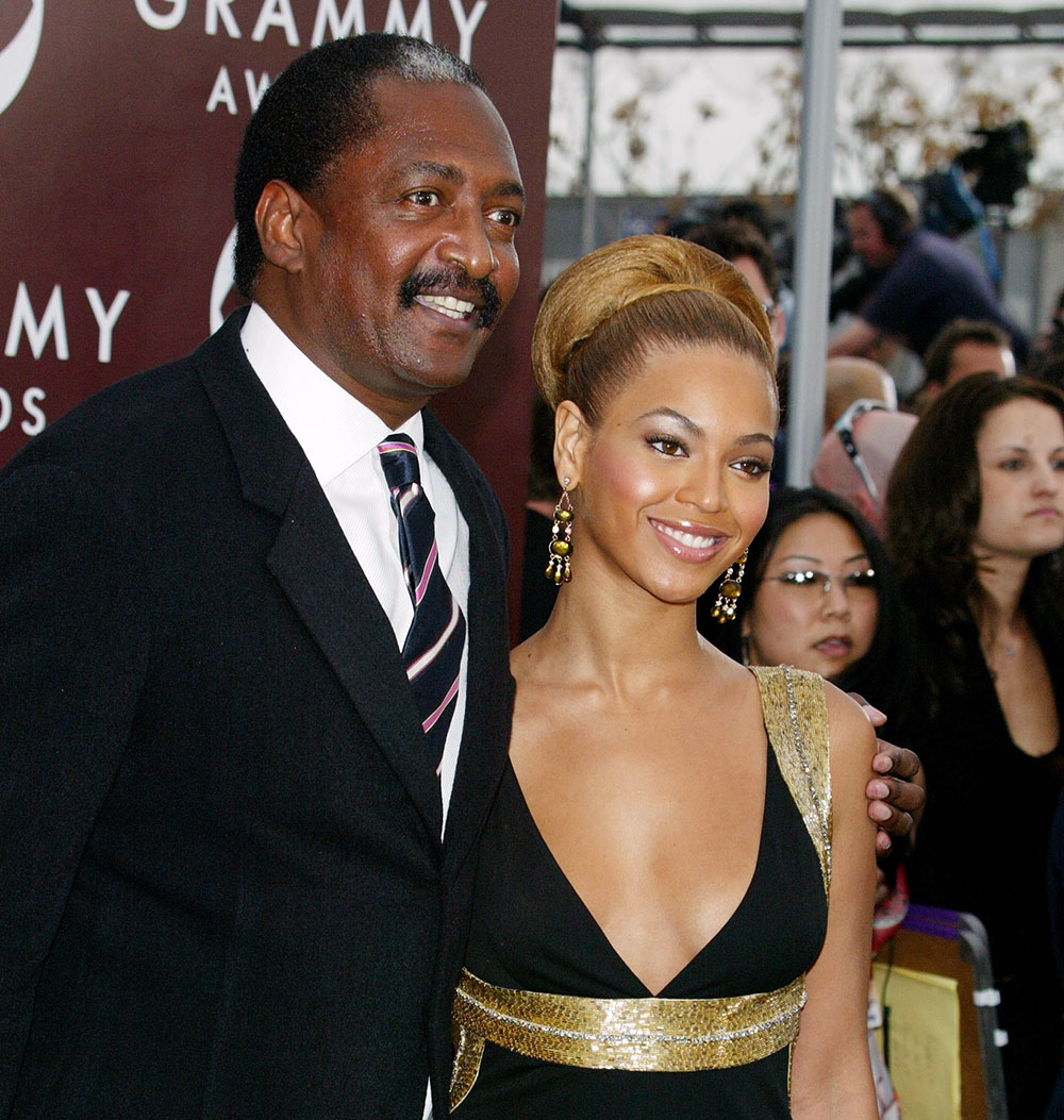 Mathew Knowles and Beyonce at The 47th Annual Grammy Awards