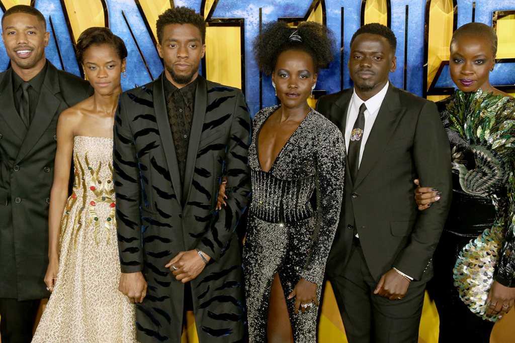 Cast of Black Panther at European Premiere