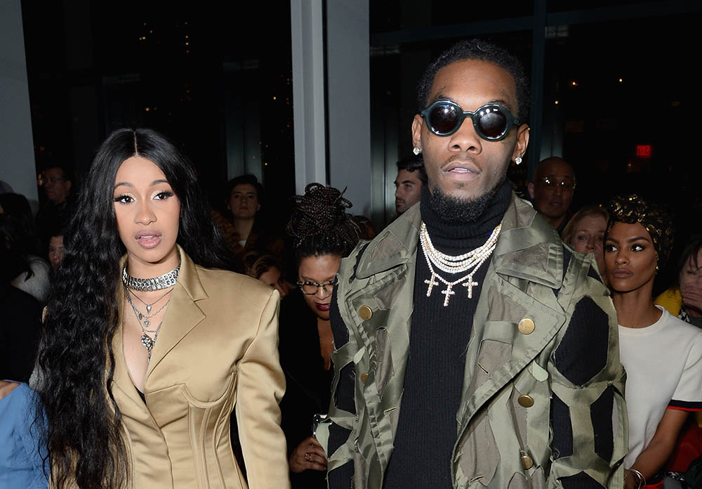 Cardi B & Offset at Prabal Gurung Runway Show