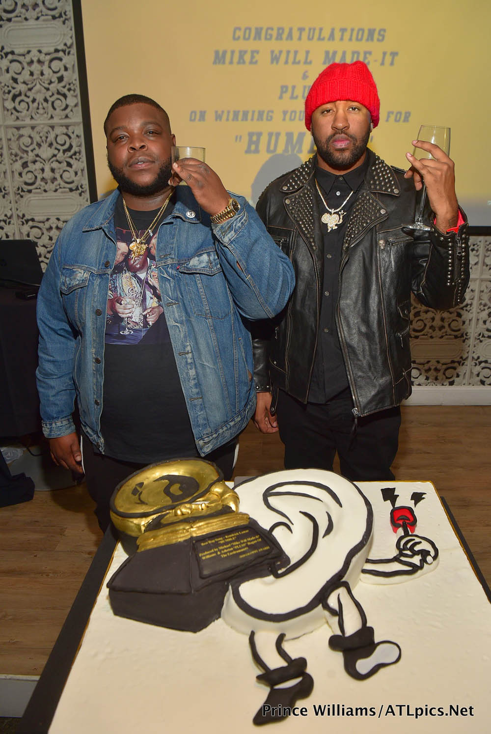 Mike Will Made It (R) & PLUSS (L) at their Grammy Celebration