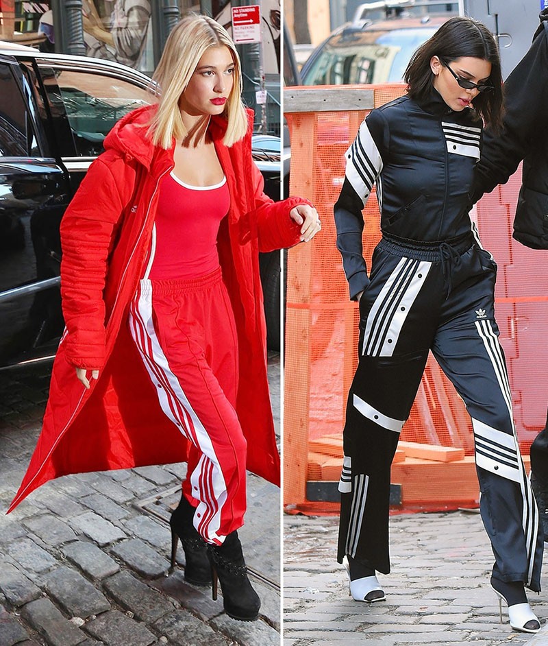 Hailey Baldwin and Kendall Jenner at NYFW