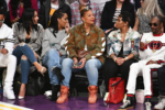 Ludacris, Eduoxie, Eboni Nichols, Queen Latifah, Shante Broadus, Snoop Dogg attend NBA All-Star Game