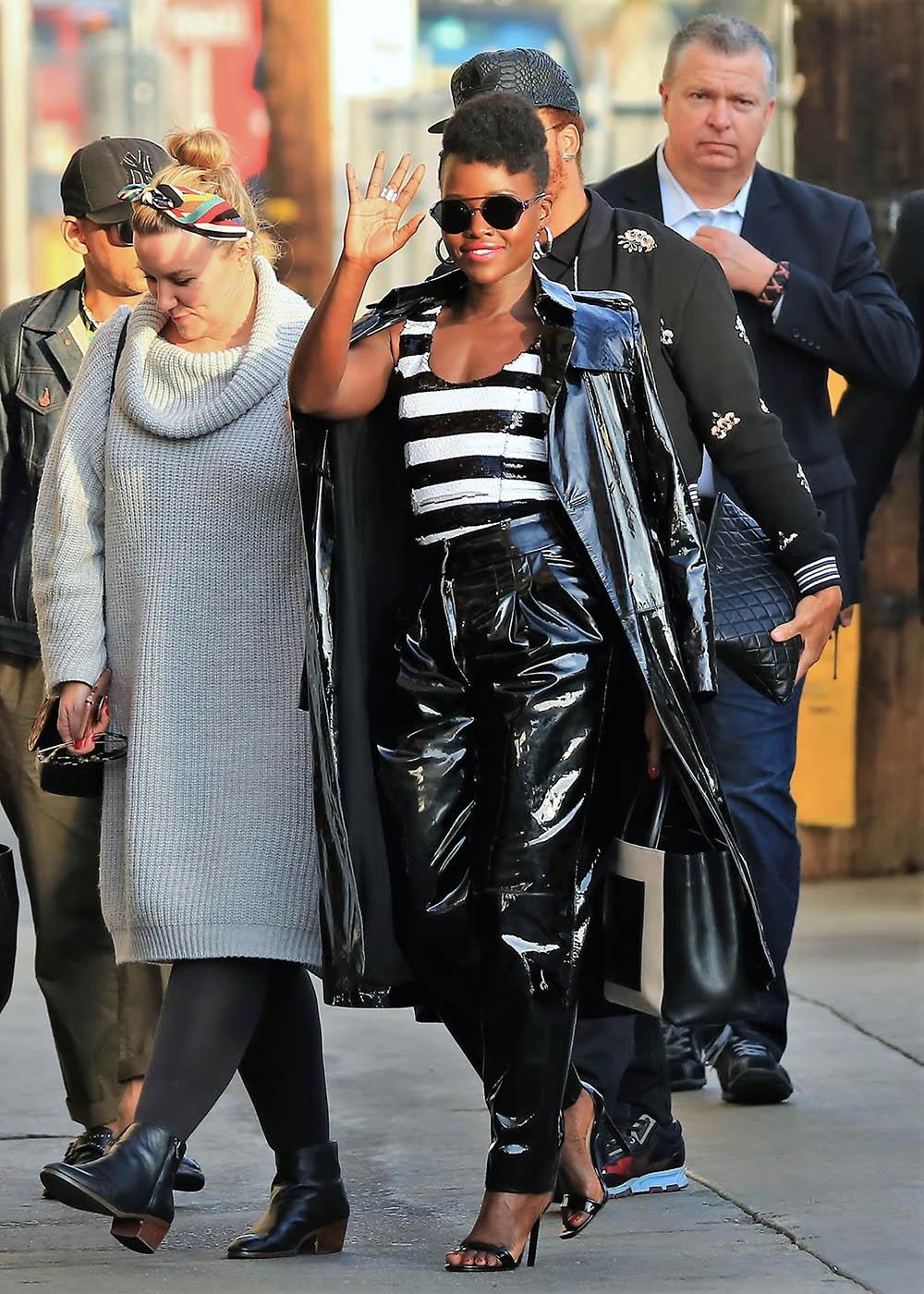 Lupita Nyongo arrive to Jimmy Kimmel Live