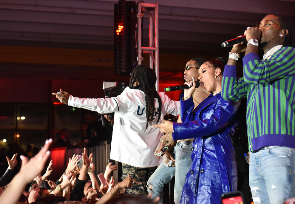 Cardi B And Migos Performing At The 2018 Maxim Party Co sponsored By Blu Sandra Rose