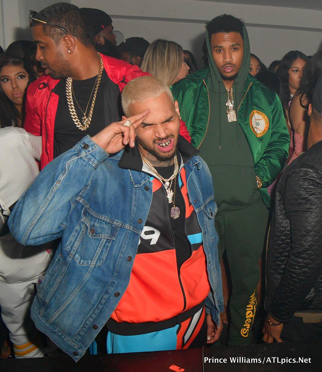 Chris Brown at Boulevard3 in Los Angeles