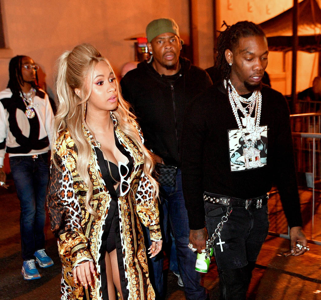 Cardi B & Offset at NBA All-Star party at Boulevard3