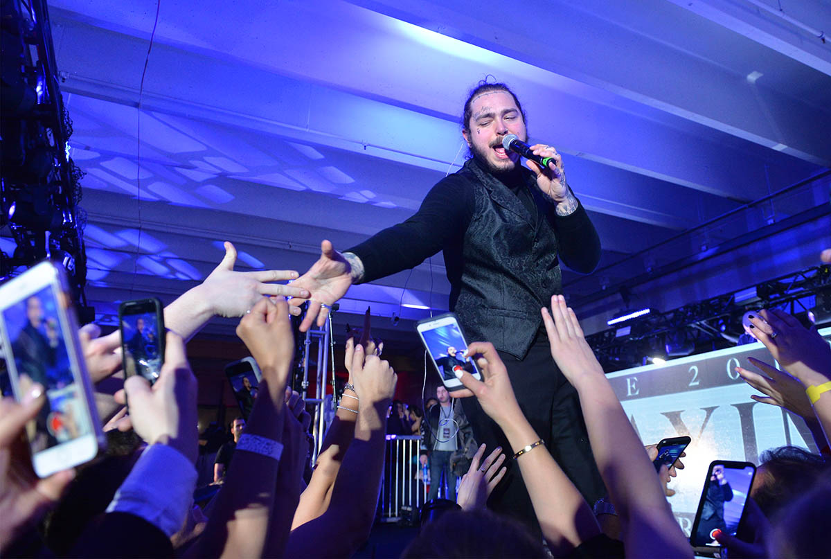 Post Malone performing at The 2018 Maxim Party Co-Sponsored By blu