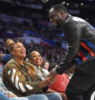 Queen Latifah, Sean Combs, Shante Broadus at NBA All-Star Game