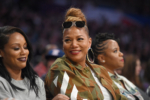 Eboni Nichols, Queen Latifah, Shante Broadus attend NBA All-Star Game