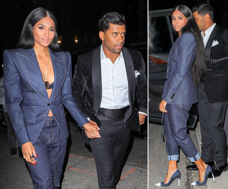 Russell and Ciara Wilson at Tom Ford Show