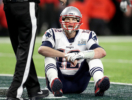 Tom Brady sits dejected during Super Bowl LII