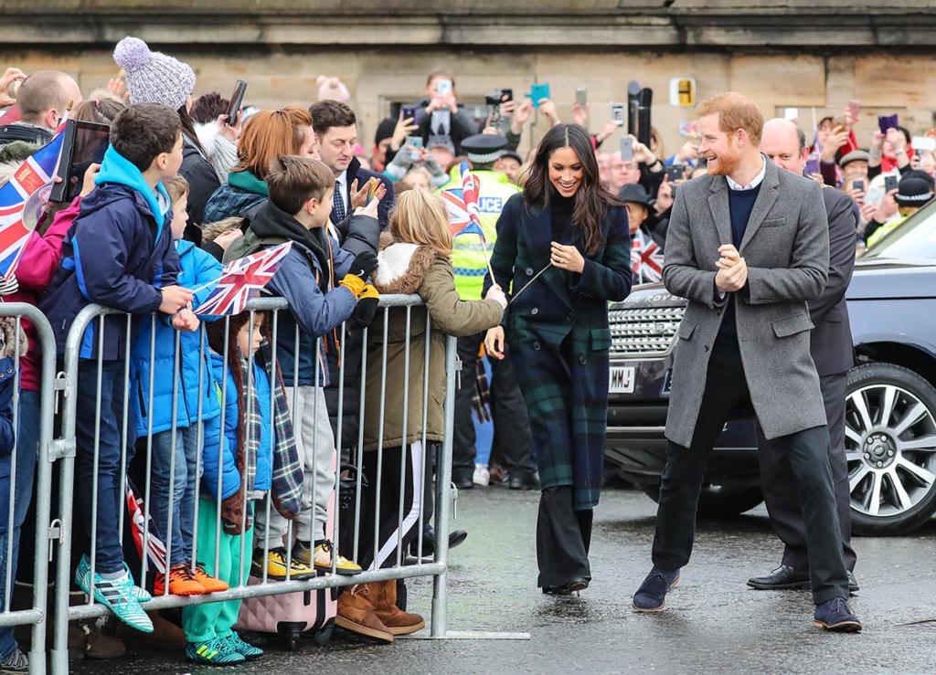 Prince Harry and Meghan Markle visit Edinburgh Castle