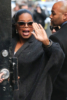 Oprah Winfrey seen arriving at The Late Show in NYC