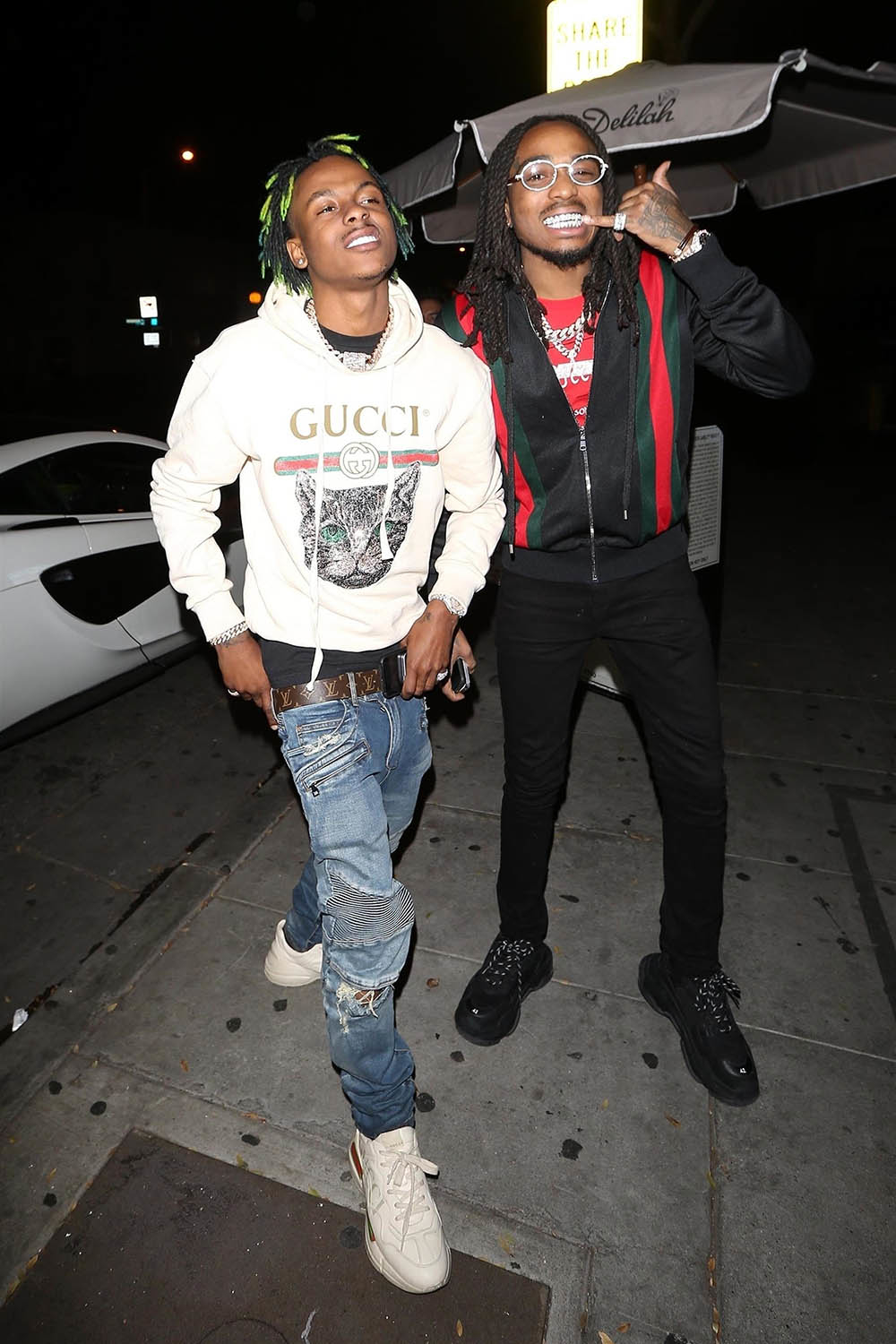 rich the kid  u0026 quavo arrive for dinner at delilah