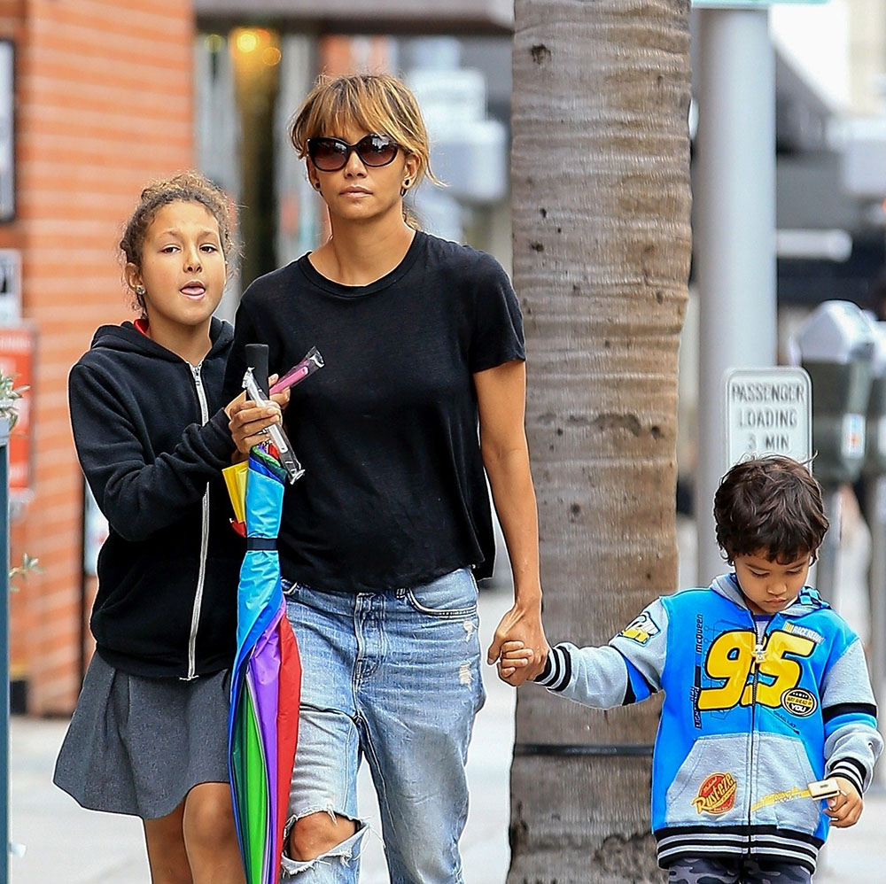 Halle Berry Visits The Dentist With Nahla And Maceo Sandra Rose